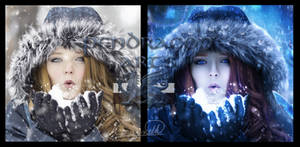 Winter Magic before and after
