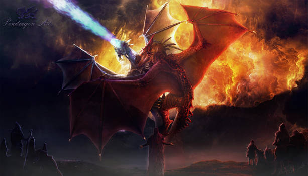 Tale of the Two Dragons by Pendragon-Arts