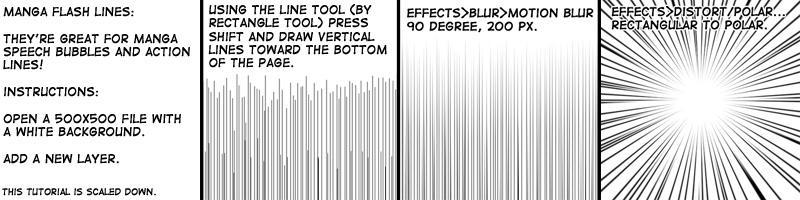 Manga flash lines tutorial