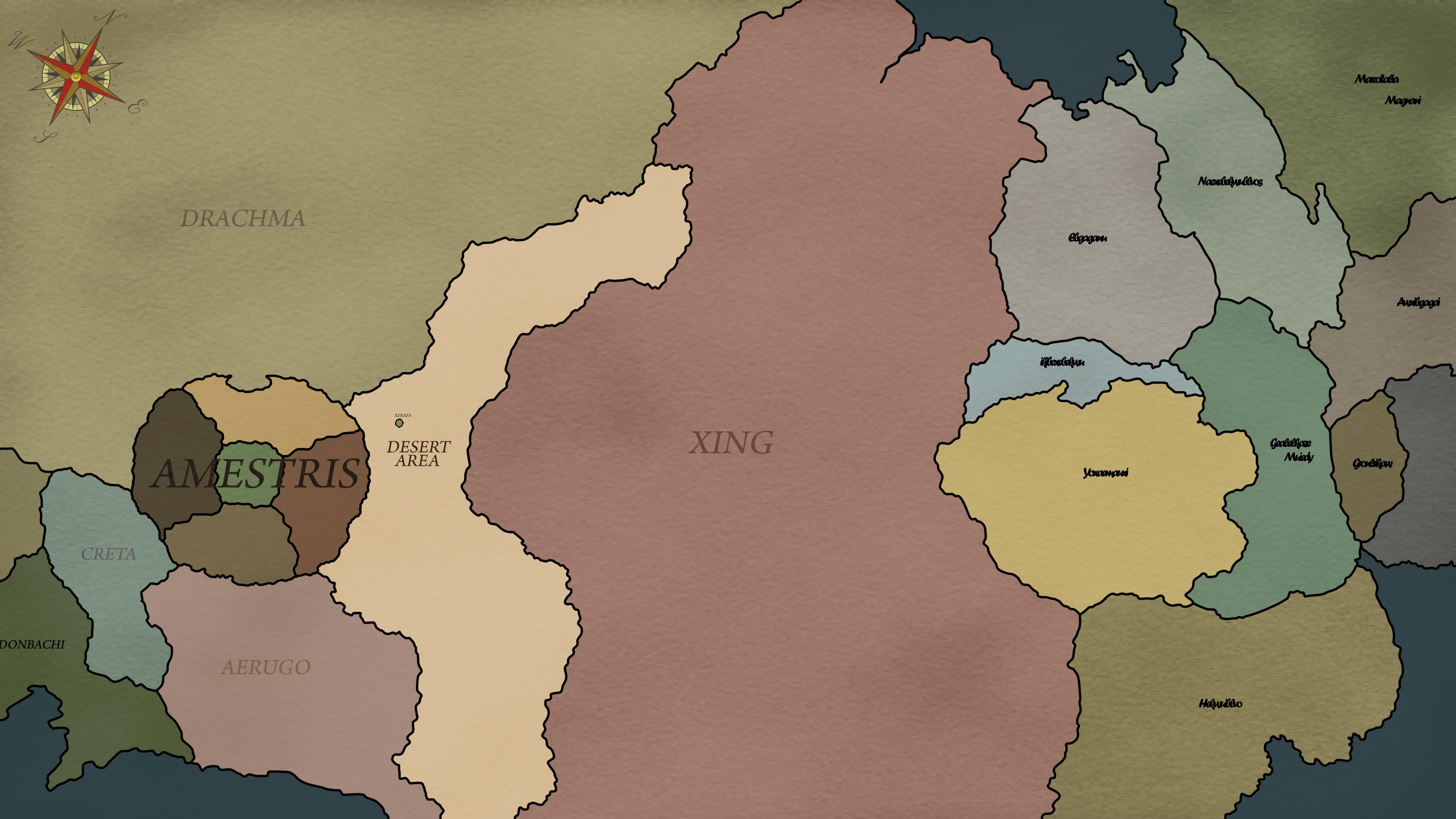 Fullmetal Alchemist World Map New Amestris Map by PosterMasterChef on DeviantArt