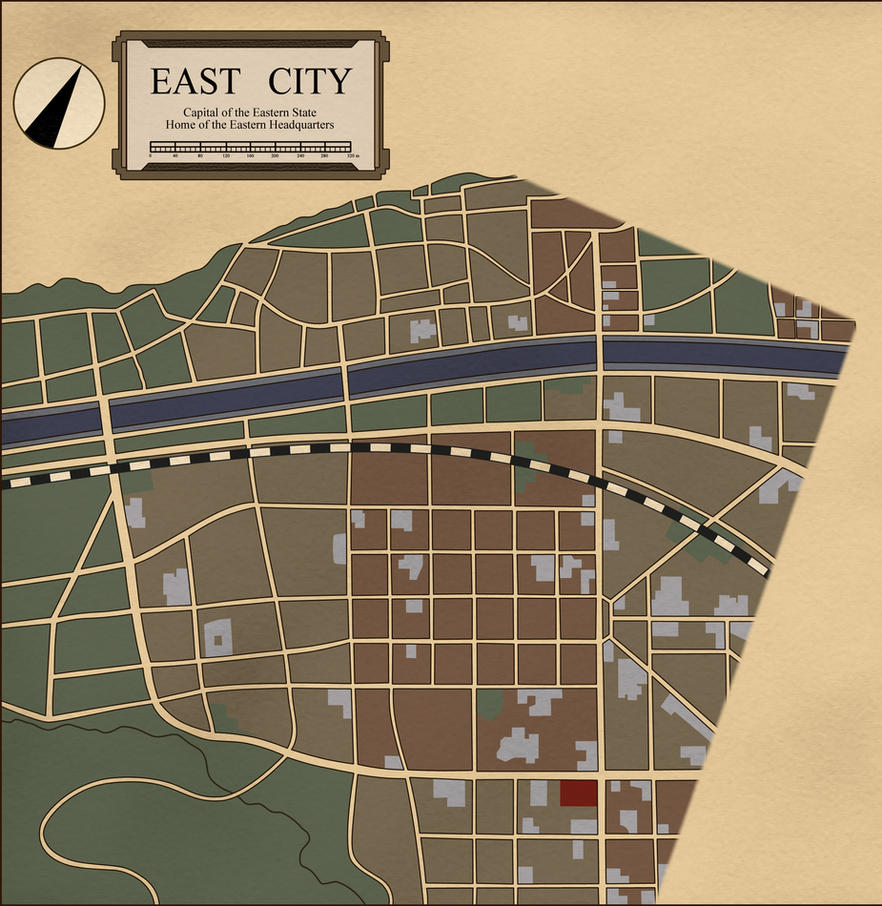 East City Map by PosterMasterChef