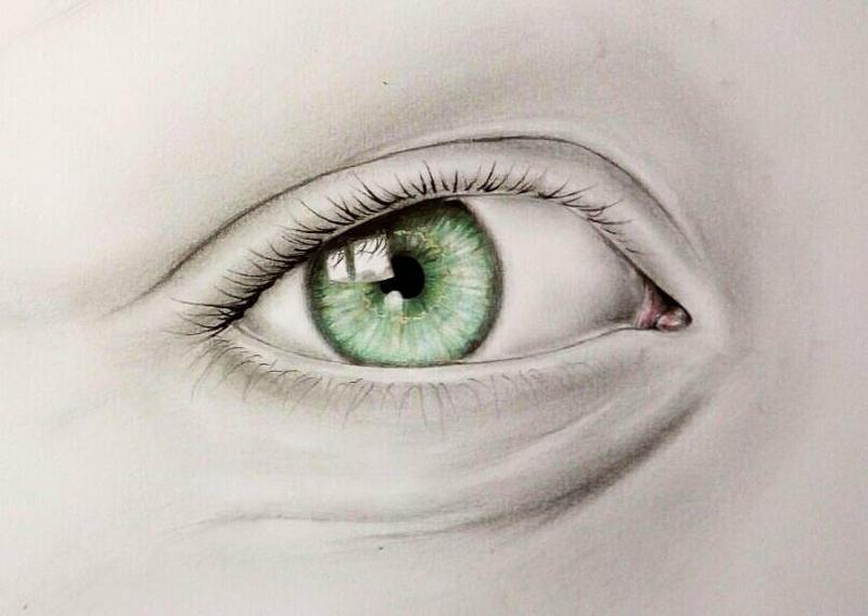 Green eye  by Lunipae