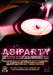 Abi Party Flyer