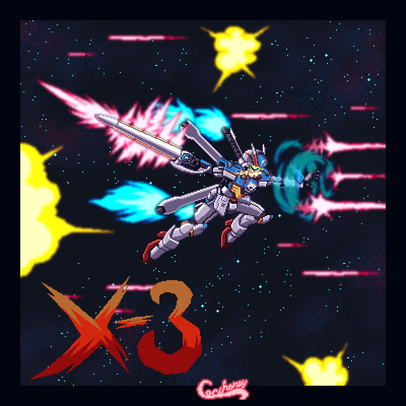 Crossbone Gundam X-3 for Gundam collab BR by Cecihoney