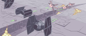 Dogfight at Deathstar for Jedi's project collab