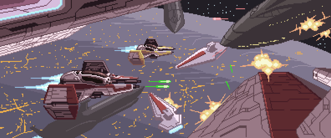 Star Wars Collab Ep 3 Battle Over Coruscant By Cecihoney On Deviantart
