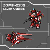 Pixelart - SD Savior Gundam by Cecihoney