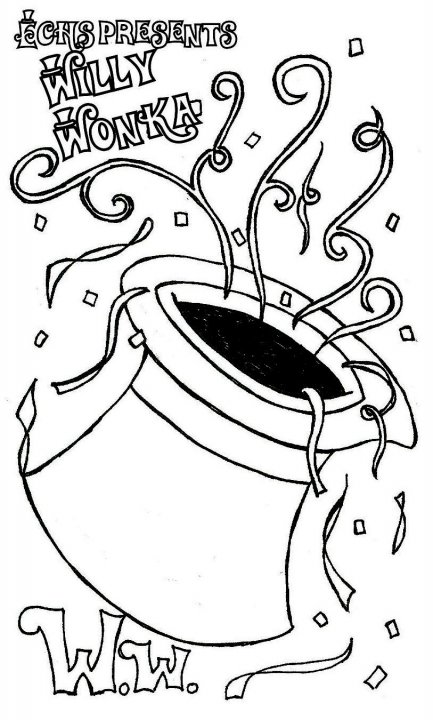 printable coloring pages willy wonka - photo#8