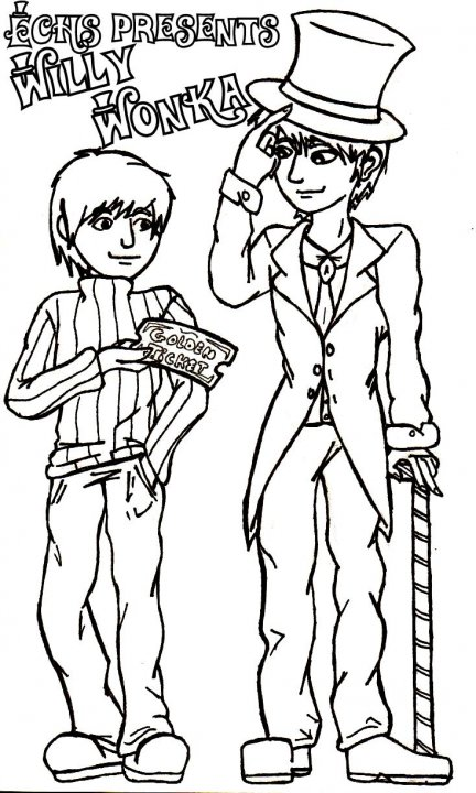 Willy wonka and the chocolate factory free coloring pages for Charlie and the chocolate factory coloring pages