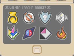 Valmio Gym Badges by Pokemon-Diamond