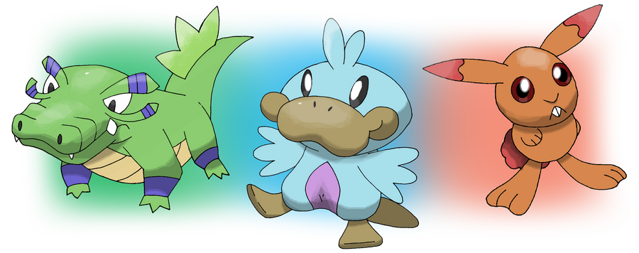 Pokemon diamond and pearl starters