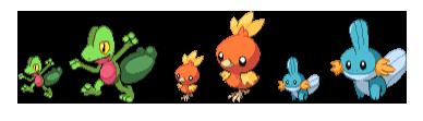 CRAS starter sprites by Pokemon-Diamond