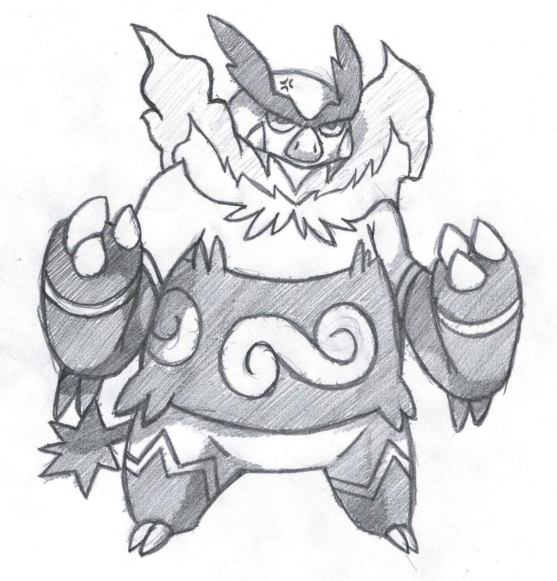 Emboar sketch by Pokemon-Diamond