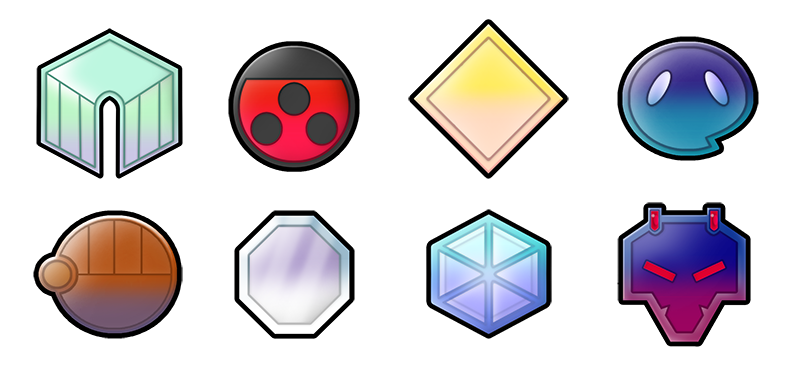 Johto 6 Generation badges by Pokemon-Diamond
