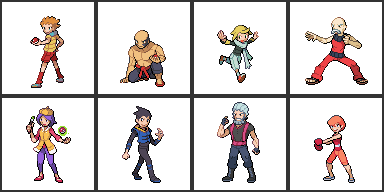 Redone Valmio Gym Leaders by Pokemon-Diamond
