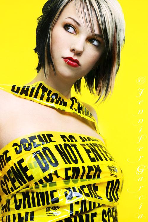 Caution-tape Glamour by badkittychica