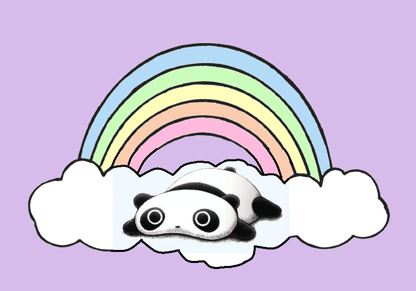 Tare Panda Rainbow By Spookyweasel