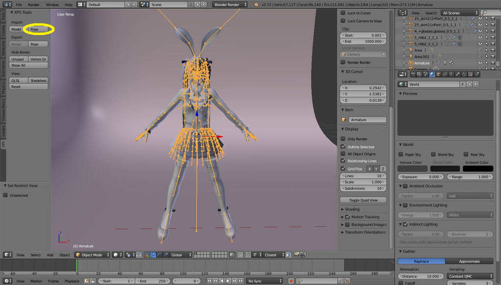 XPS to Blender 2 7x(Blender internal the easy way) by