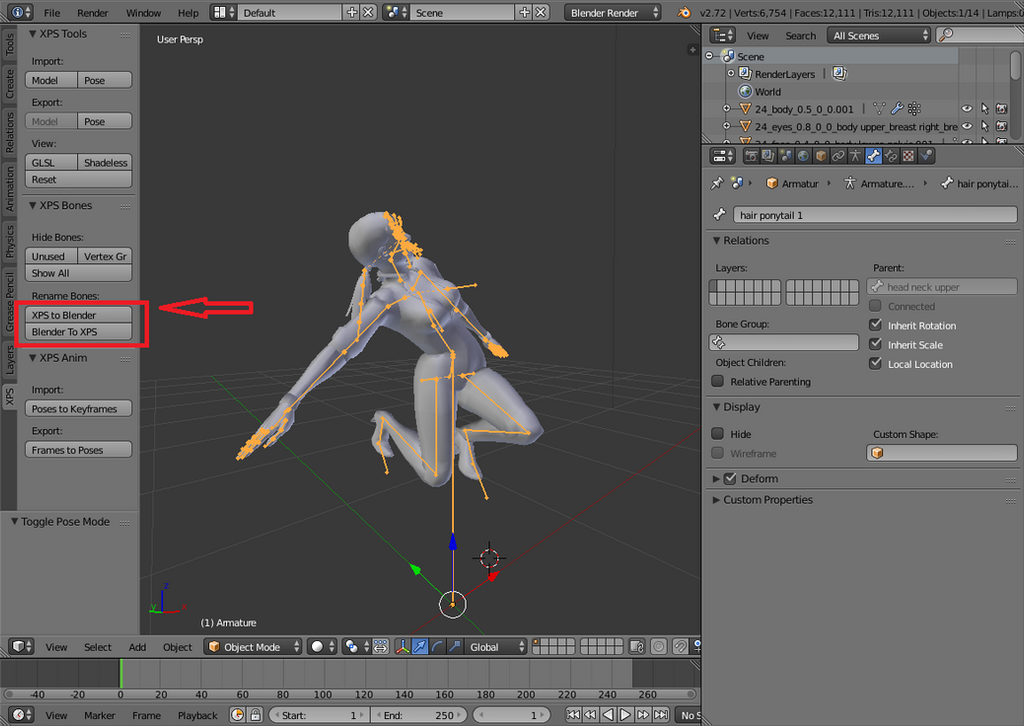 Xps blender poses and animation by johnzero7 on deviantart bone rename by johnzero7 ccuart Gallery