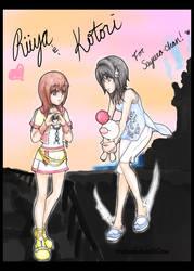 Riiya and Kotori by sorahanaki