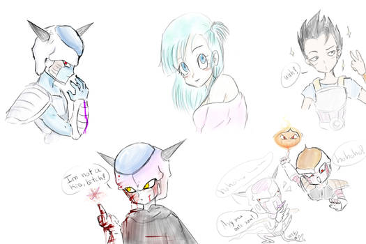 Dragonball sketchesss