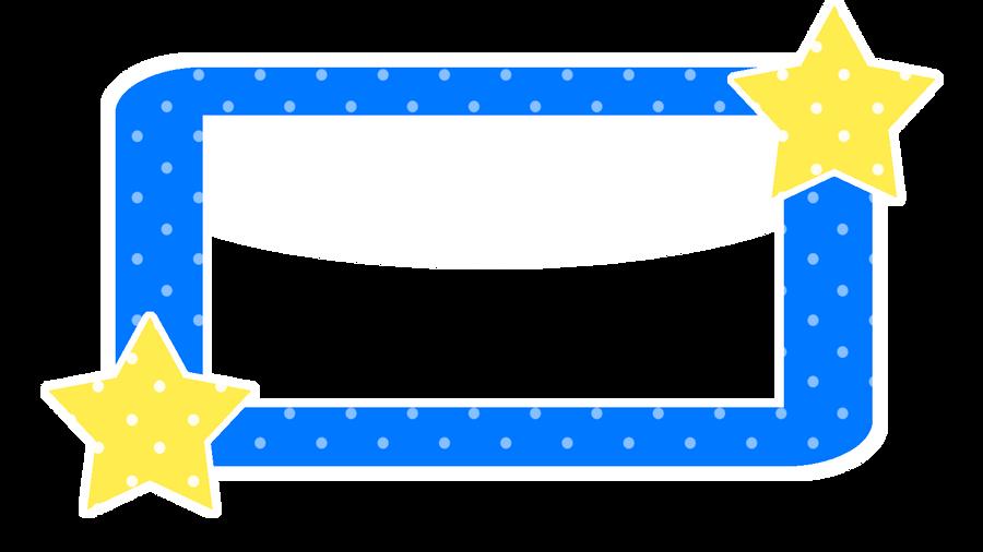 Royal Blue Polka Dot Border Kawaii Polka Dots Bord...