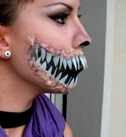 2_ Mileena Makeup for Halloween by AleMeller13