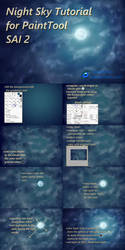 Night Sky Tutorial for PaintTool SAI 2 by Quaenam