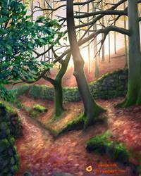 Paint Photo Challenge 14 - Autumn Path