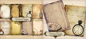 Tattered Ephemera ATC Backgrounds by VectoriaDesigns