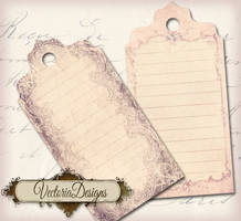 Shabby Chic Tags by VectoriaDesigns