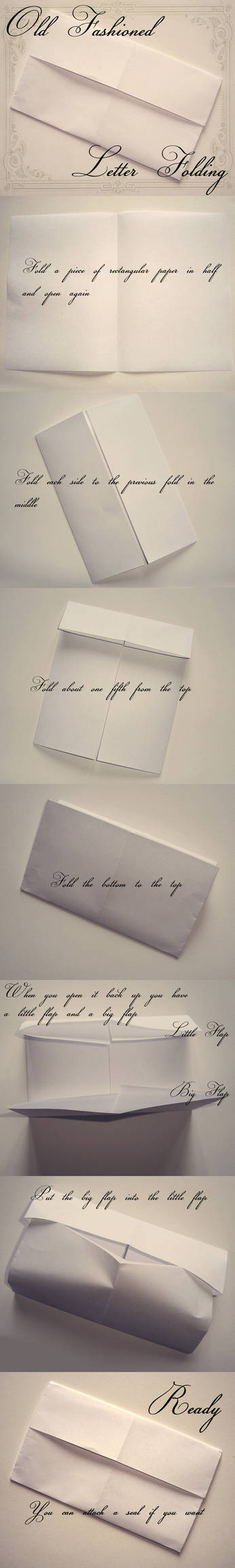 Old Fashioned Letter Folding by VectoriaDesigns
