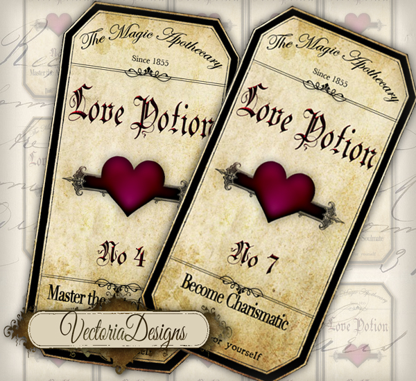 Love Potion Drink Labels: Printable Love Potion Labels By VectoriaDesigns On DeviantArt