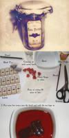 Love potion jar tutorial by VectoriaDesigns