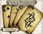 Printable Grunge Alice in Wonderland Playing Cards