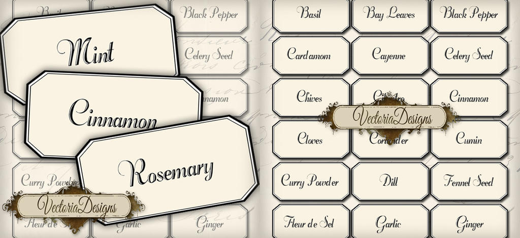 blank spice labels