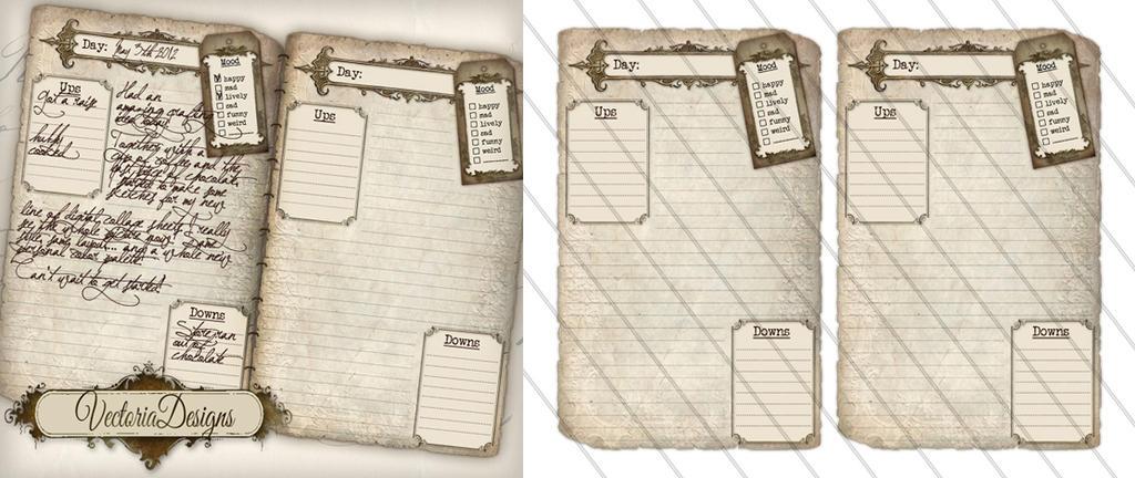 instantdownload – Diary Paper Printable