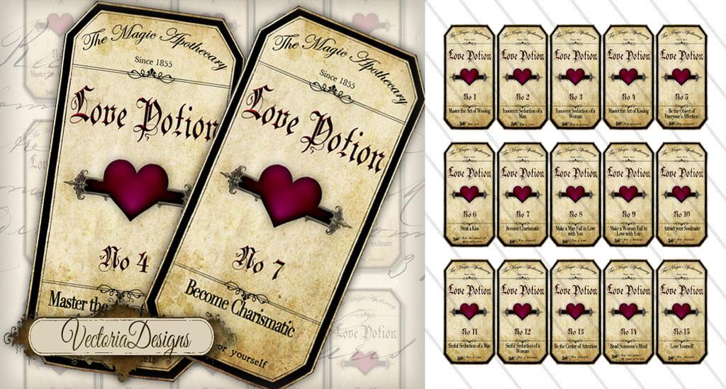 Love Potion Bottle Labels Printable Free