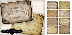 Printable Ouija Board ATC size by VectoriaDesigns