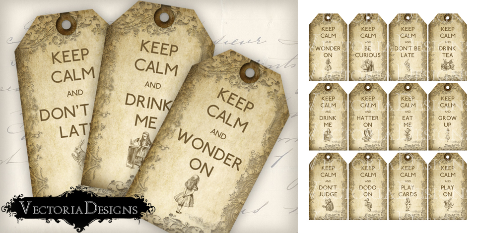 Alice in wonderland keep calm tags by vectoriadesigns on deviantart alice in wonderland keep calm tags by vectoriadesigns pronofoot35fo Gallery