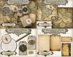 Traveller's Digital Scrapbooking Kit
