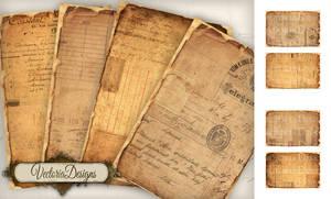 Printable vintage ephemera papers by VectoriaDesigns