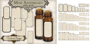 Printable Mini Blank Apothecary Labels