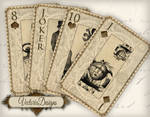 Printable Steampunk Playing Cards