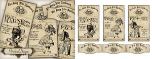 Alice in Wonderland Apothecary Labels - Halloween