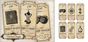 Steampunk Shoppe Labels