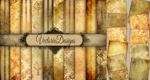 Grunge Steampunk Papers by VectoriaDesigns