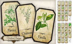 Printable Spice Labels