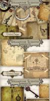 Steampunk Scientist Scrapbooking Kit by VectoriaDesigns