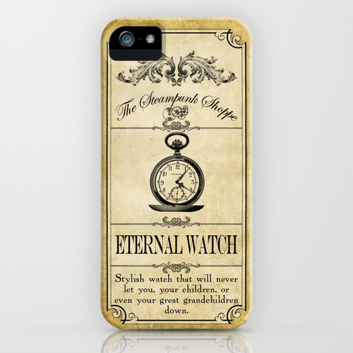 Steampunk Apothecary Watch iPhone Case by VectoriaDesigns